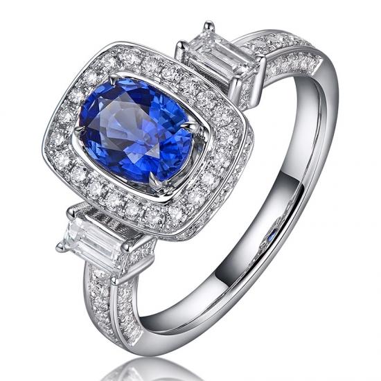 25645718730f Joyas de compromiso de anillo de bodas de plata esterlina para mujeres